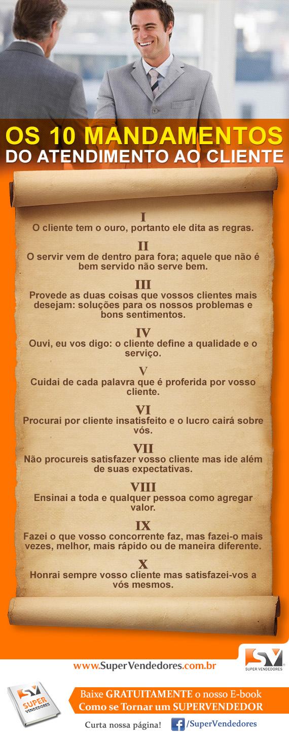 Os 10 mandamentos do Atendimento ao Cliente